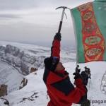 «Флаг Родины над высшей точкой Туркменистана» Е.КУРБАНОВА