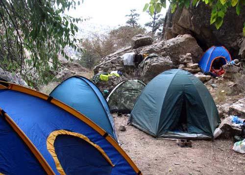 Палаточный лагерь на Святом роднике