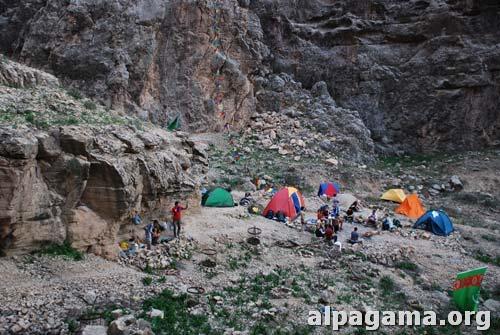 Образовавшийся лагерь