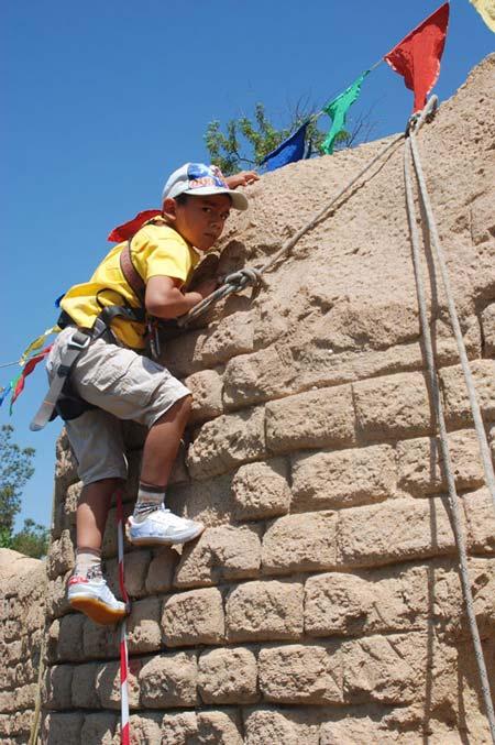 Соревнования юных скалолазов