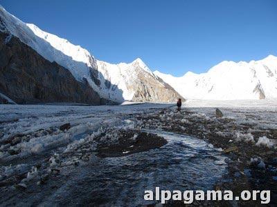 Ручейки на леднике
