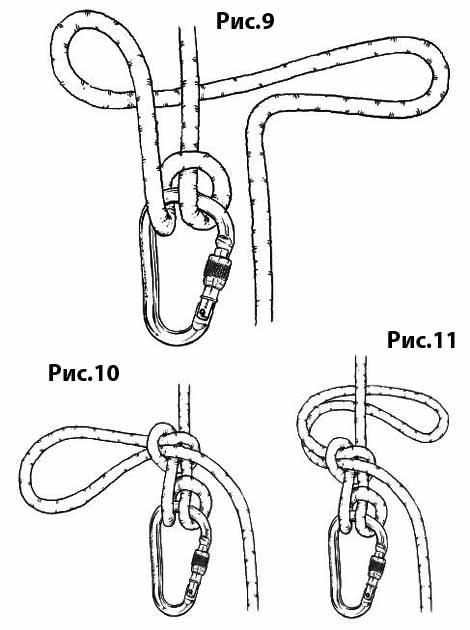 Блокировка узла Мунтера (UIAA) – Рифовый узел
