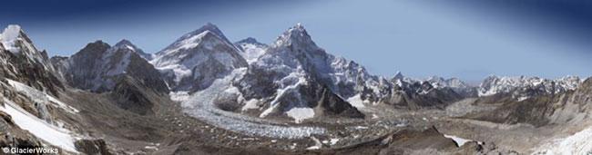 Подробная панорама Эвереста