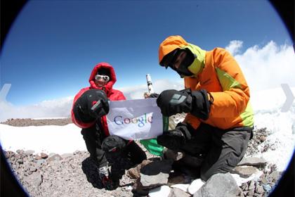 Панорамы Эвереста, Эльбруса, Килиманджаро, Аконкагуа от Google