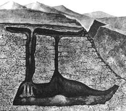 Схема «пещеры мертвых», составленная участником спелеоэкспедиции В. Михеевым.