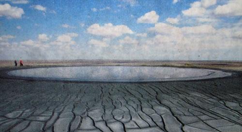 Кратер грязевого вулкана Геокпатлавук
