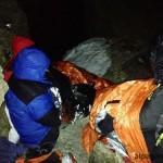 Очень холодная сидячая ночевка на спуске с Маттерхорна