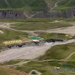 вид на поляну Ачик-Таш с гребня Петровского