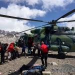Прилетел вертолет за пострадавшим