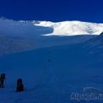 На леднике, переход Первый - Второй лагерь