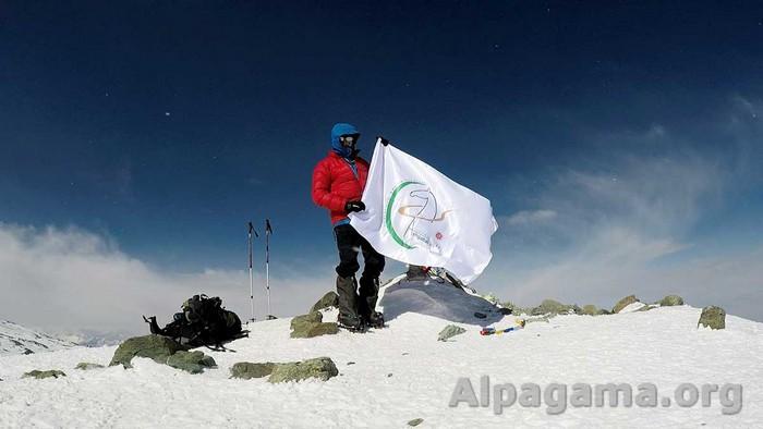 """Символ Игр """"Ашхабад 2017"""" на высоте в 7134 метра"""