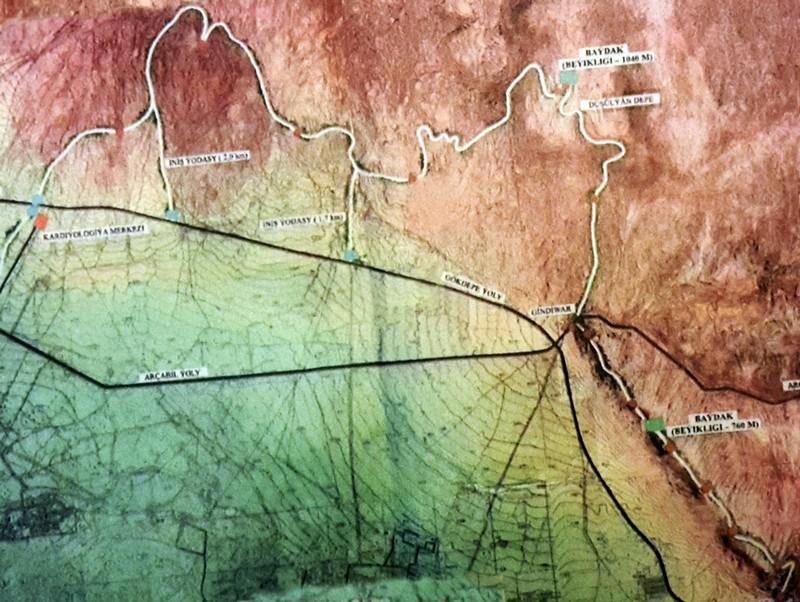 """Схема Тропы здоровья. Газета """"Нейтральный Туркменистан"""" 8 ноября 2000г."""