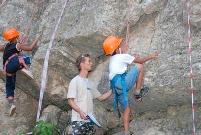 Соревнования на скалах в Арчабилском ущелье