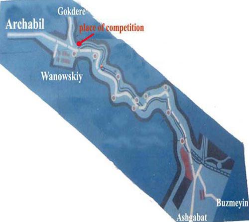 Схема Арчабильского ущелья