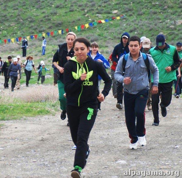 Забег на вершину горы Душак