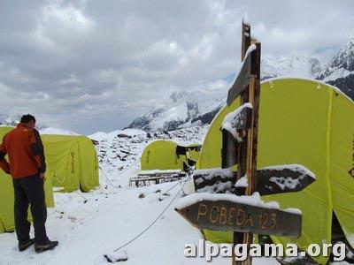 Первый снег в Базовом. Как мы оказались на вершине Хан-Тенгри
