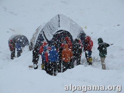 Снегопад в БЛ. Как мы оказались на вершине Хан-Тенгри