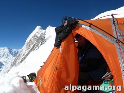 В палатке азербайджанцев