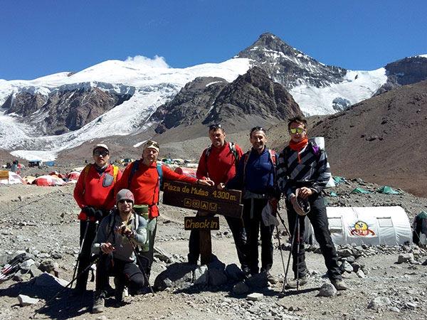 В базовом лагере на высоте 4300. Туркменистанец на Аконкагуа
