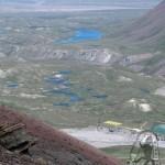 Озера и Базовый лагерь с высоты 4600