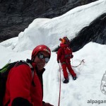 На леднике под южной стеной Эйгера