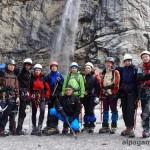 Наша группа на Лекзырском леднике