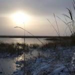 «Закат над замерзшим озером Куртли» Сердар БЯШИМОВ