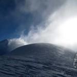 Снежный купол пика Раздельная (6148м)