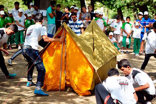 Слет туристов собрал команды оздоровительных центров Гекдере