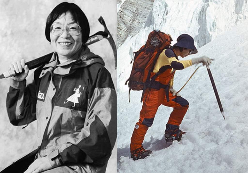 В 1976 году первой женщиной, поднявшейся на Эверест, стала японская альпинистка Дзюнко Табэй