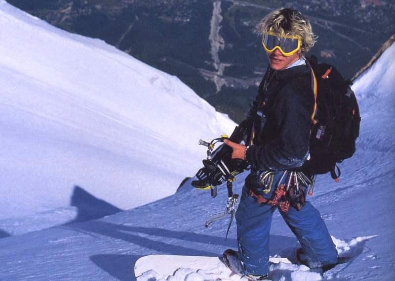 В мае 2001 года француз Марко Сиффреди спустился с вершины Эвереста