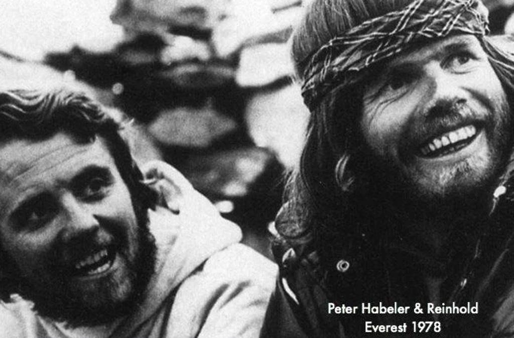 Питер Хабелер и Рейнхольд Месснер совершили первое бескислородное восхождение на Эверест