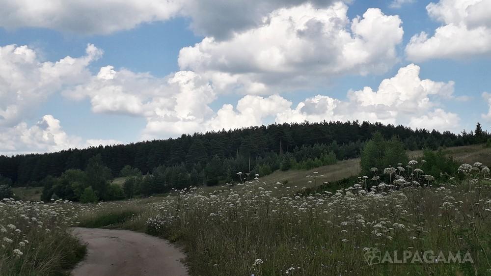 Ширина гора у города Ковров