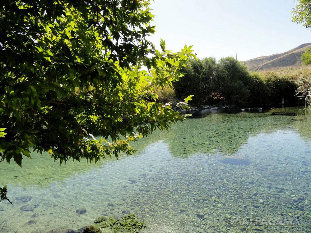Гермаб. Заводь исток реки Секиз-яб