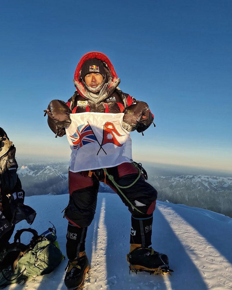 Нирмал Пурджа на вершине К2. 16 января 2021