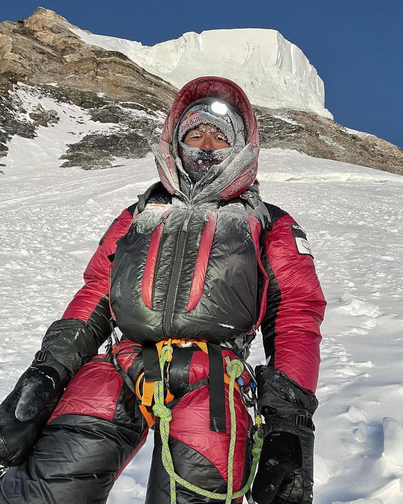 Нирмал Пурджа на подходе к вершине К2. 16 января 2021