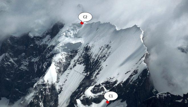 Очень сложный участок между С1 и С2, пройденный чешской экспедицией