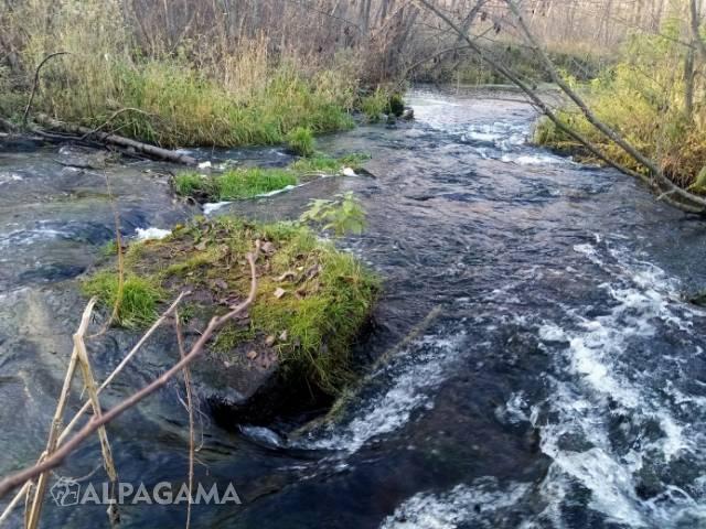 Река Нерехта. Пороги из известняковых глыб в Мелехово