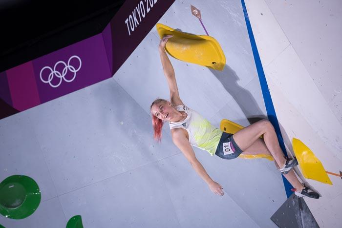 Янья Гарнбрет победительница квалификации. Олимпиада в Токио (фото: Леонид Жуков).