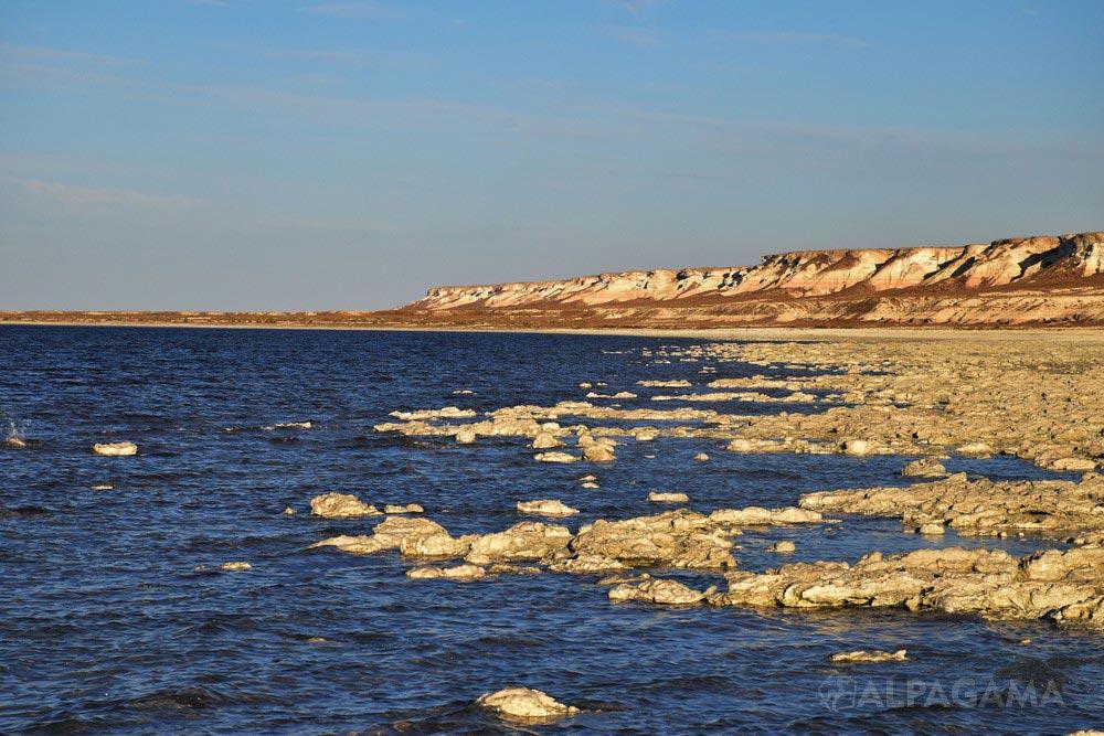 Залив Карабогазгол и чинки плато Устюрт (Елена Курбанова)